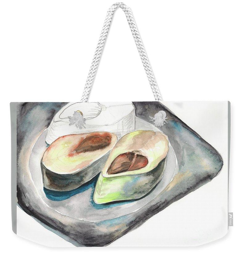 Herring Weekender Tote Bag featuring the painting Herring by Yana Sadykova