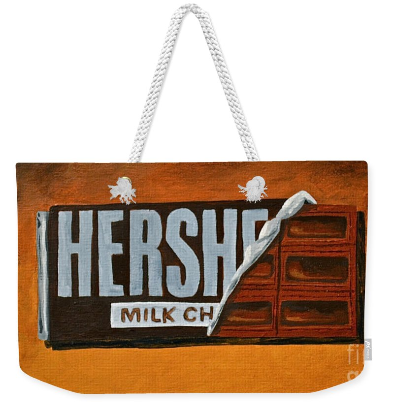 Hershey Bar Candy Bar Candy Kids Candy Weekender Tote Bag featuring the  painting Hershey Bar by d3b291fe59ca8