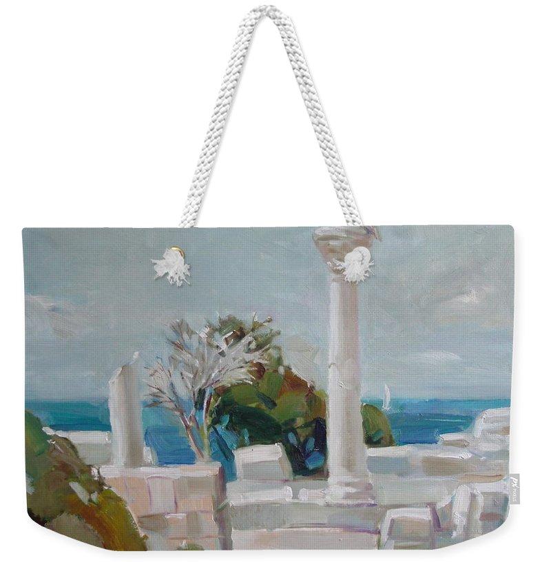 Ignatenko Weekender Tote Bag featuring the painting Hersoness by Sergey Ignatenko