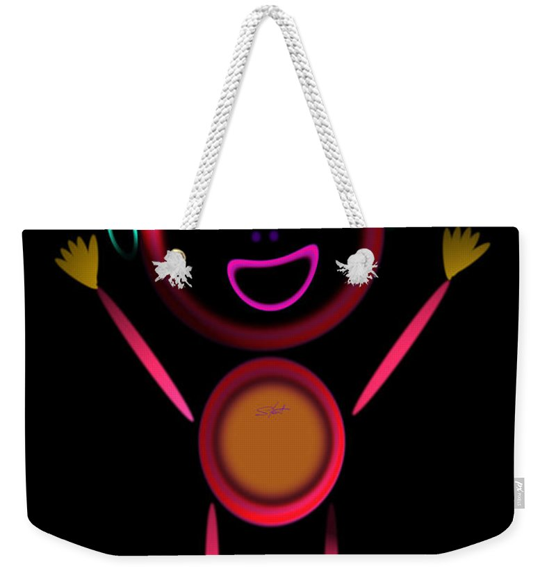 Greeting Weekender Tote Bag featuring the painting Hi by Charles Stuart