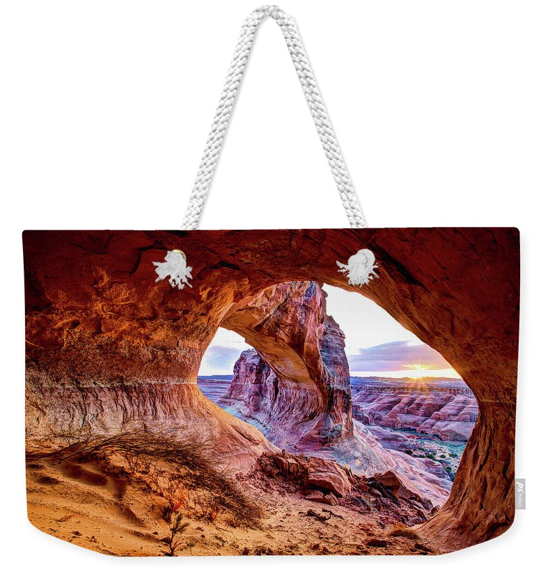 Hidden Weekender Tote Bag featuring the photograph Hidden Alcove by Chad Dutson