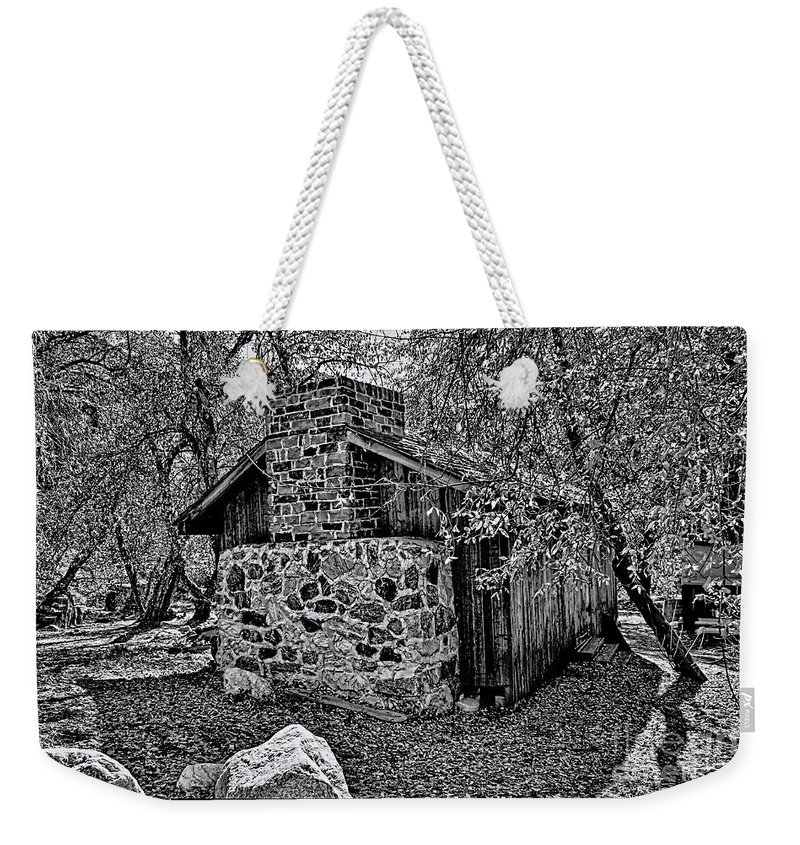 California Weekender Tote Bag featuring the photograph Hidden Cabin by Tommy Anderson