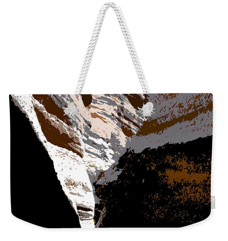 Canyon Weekender Tote Bag featuring the painting Hidden Canyon by David Lee Thompson
