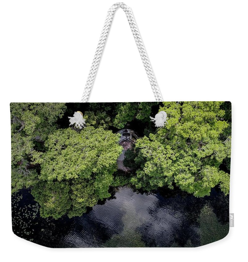 Lake Weekender Tote Bag featuring the photograph Hidden Cove by Christopher Bednarly