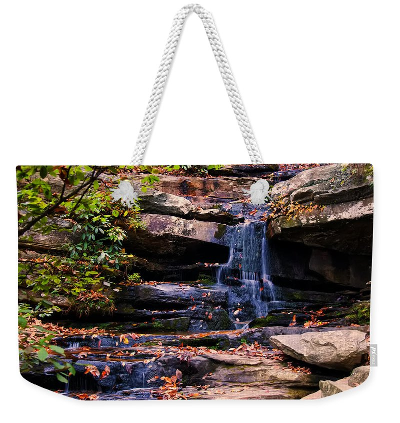 Waterfall Weekender Tote Bag featuring the photograph Hidden Falls 5 by Chris Flees