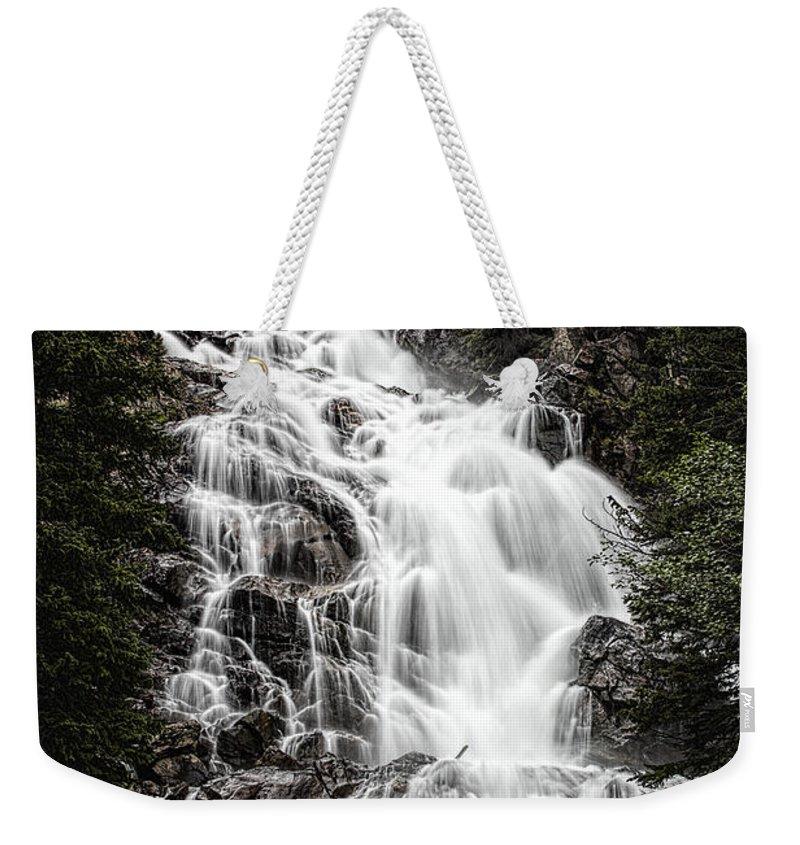 Hidden Falls Weekender Tote Bag featuring the photograph Hidden Falls by Josh Bryant