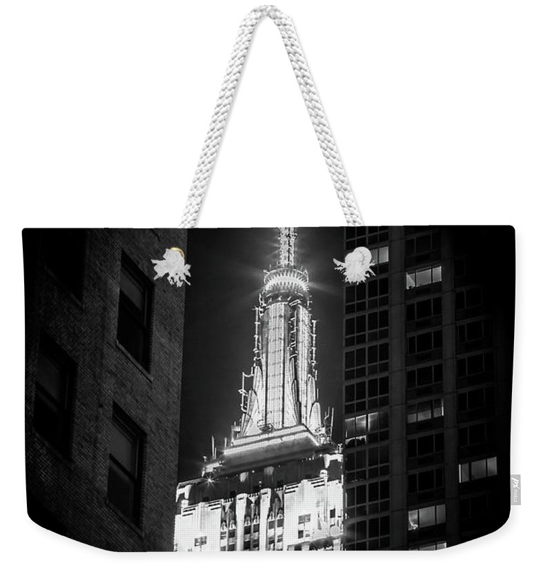 Empire State Building Weekender Tote Bag featuring the photograph Hidden Gem by Az Jackson