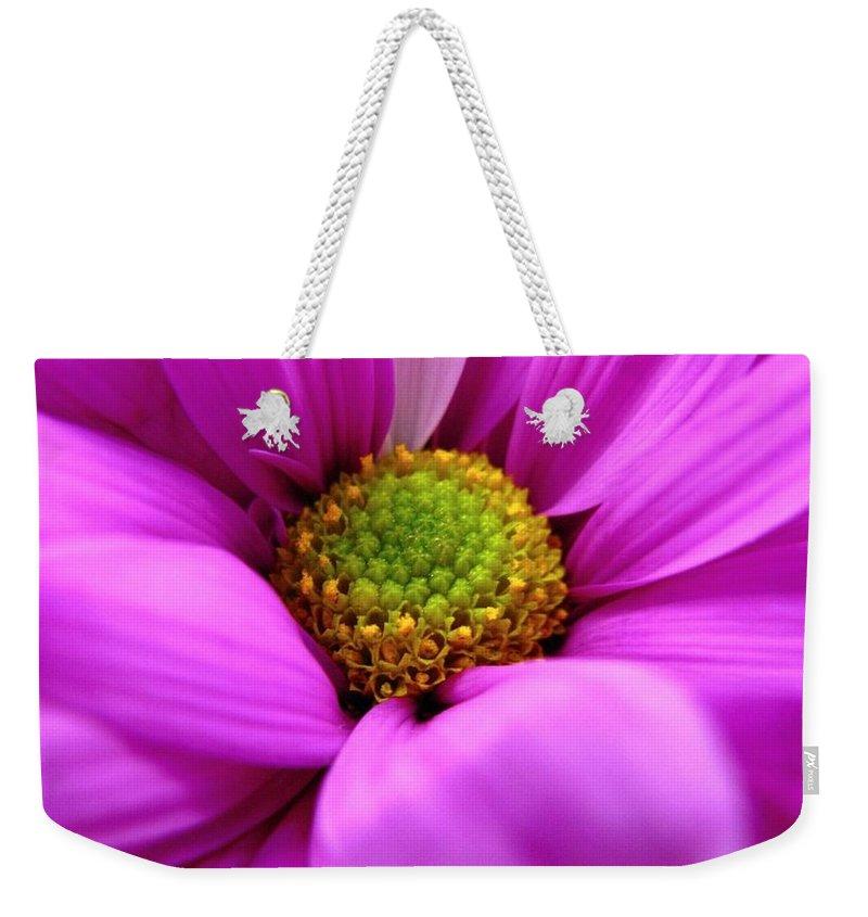 Flower Weekender Tote Bag featuring the photograph Hidden Inside by Rhonda Barrett