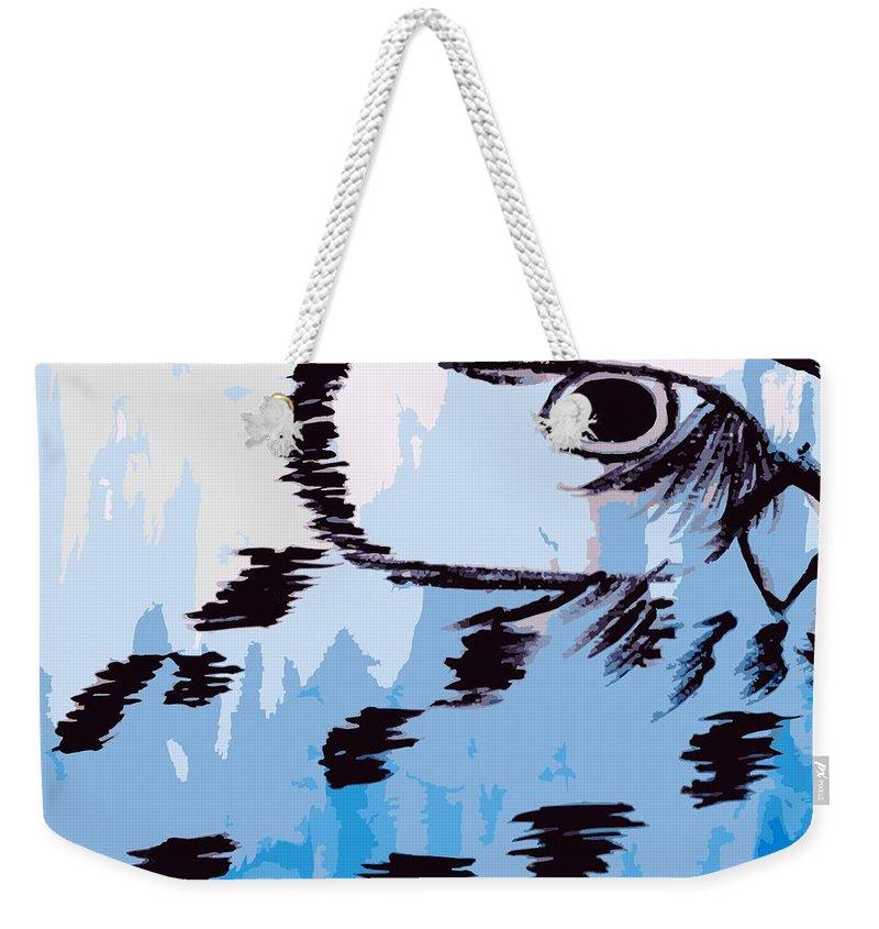 Vector Weekender Tote Bag featuring the digital art Hidden by Kellie McMahon