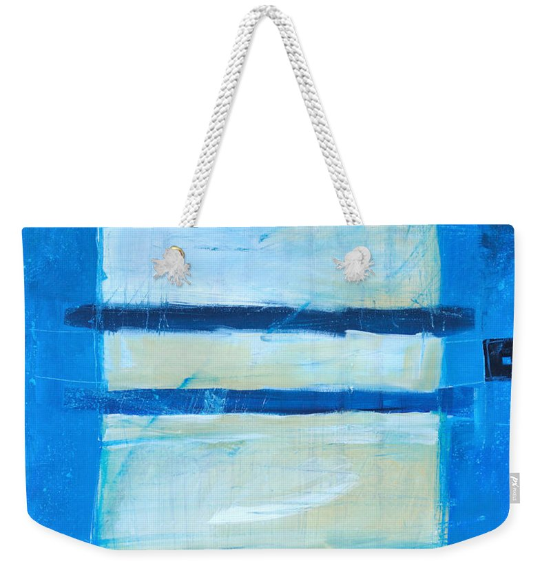 Abstract Weekender Tote Bag featuring the painting Hidden Moon by Tim Nyberg