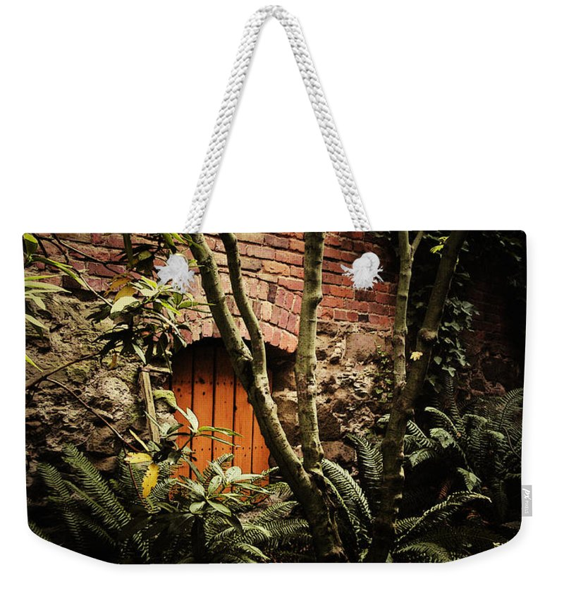 Brick Weekender Tote Bag featuring the photograph Hidden Passage by Tim Nyberg