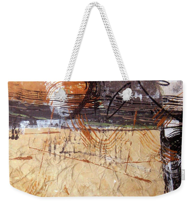 Abstract Weekender Tote Bag featuring the painting Hidden Treasures II by Ruth Palmer