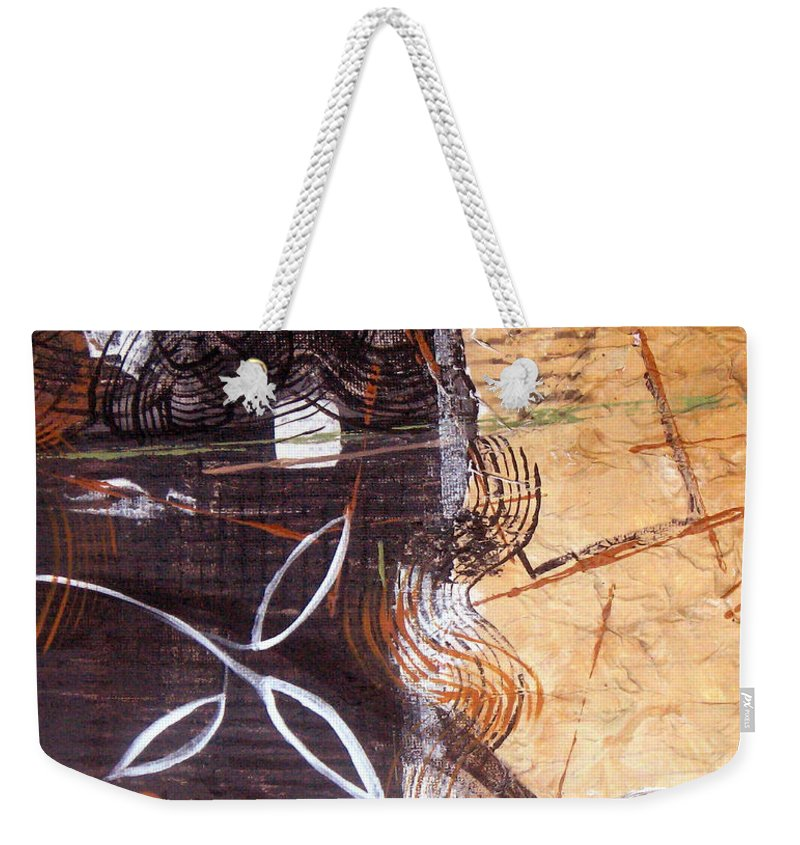 Abstract Weekender Tote Bag featuring the painting Hidden Treasures by Ruth Palmer