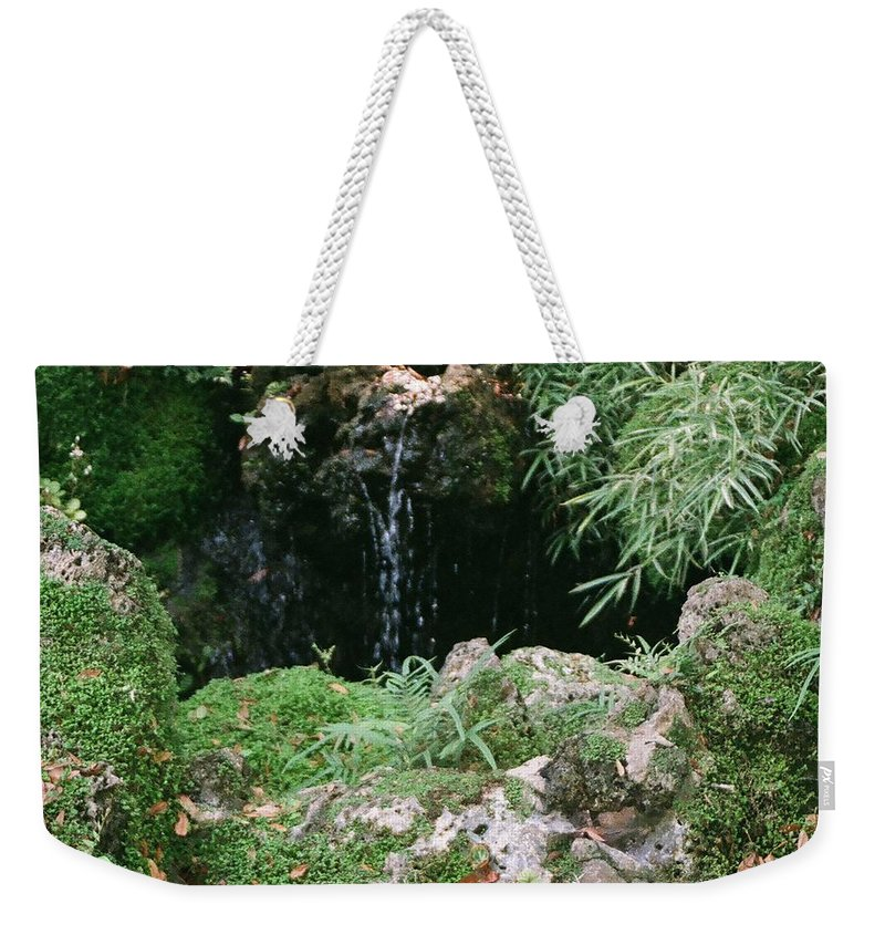 Nature Weekender Tote Bag featuring the photograph Hidden Waterfall by Dean Triolo