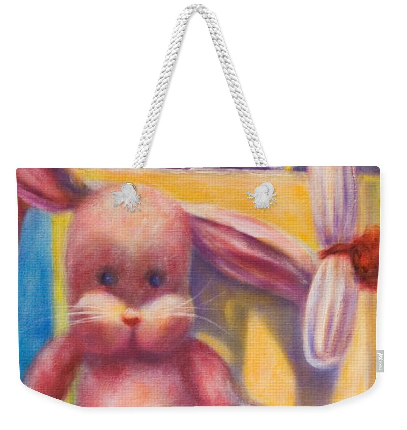 Children Weekender Tote Bag featuring the painting Hide And Seek by Shannon Grissom