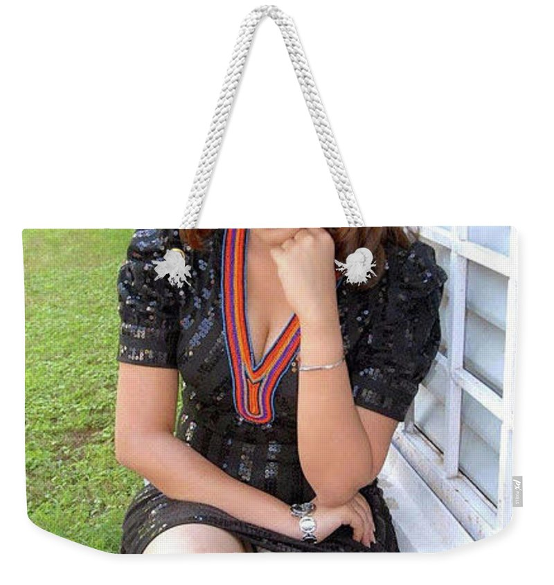 74f8b9e12922 Kolkata Call Girls Weekender Tote Bag featuring the photograph High Class  Kolkata Model Girls by Nisha