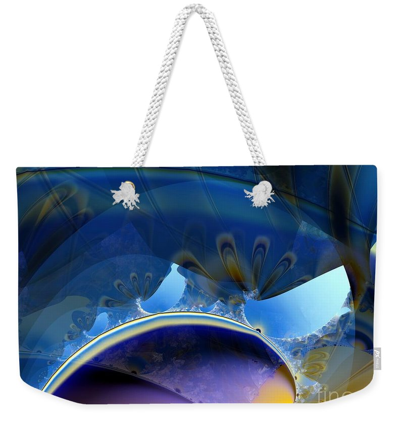 Lighter Than Air Weekender Tote Bag featuring the digital art High In The Dirigible by Ron Bissett