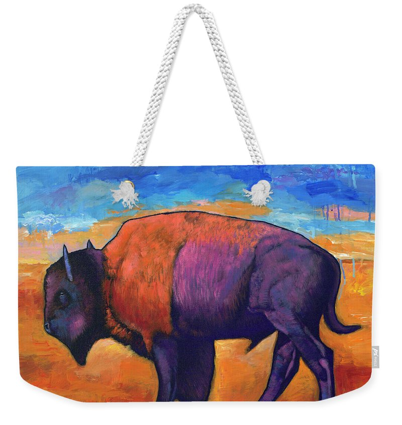 Animals Weekender Tote Bag featuring the painting High Plains Drifter by Johnathan Harris