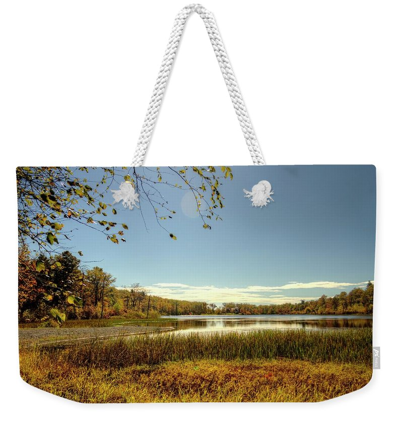 Recent Weekender Tote Bag featuring the photograph High Point Autumn Scenic by Geraldine Scull