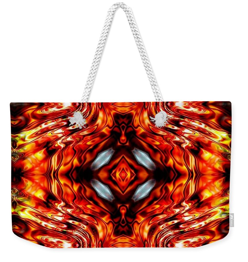 Abstract Weekender Tote Bag featuring the digital art High Society by Robert Orinski