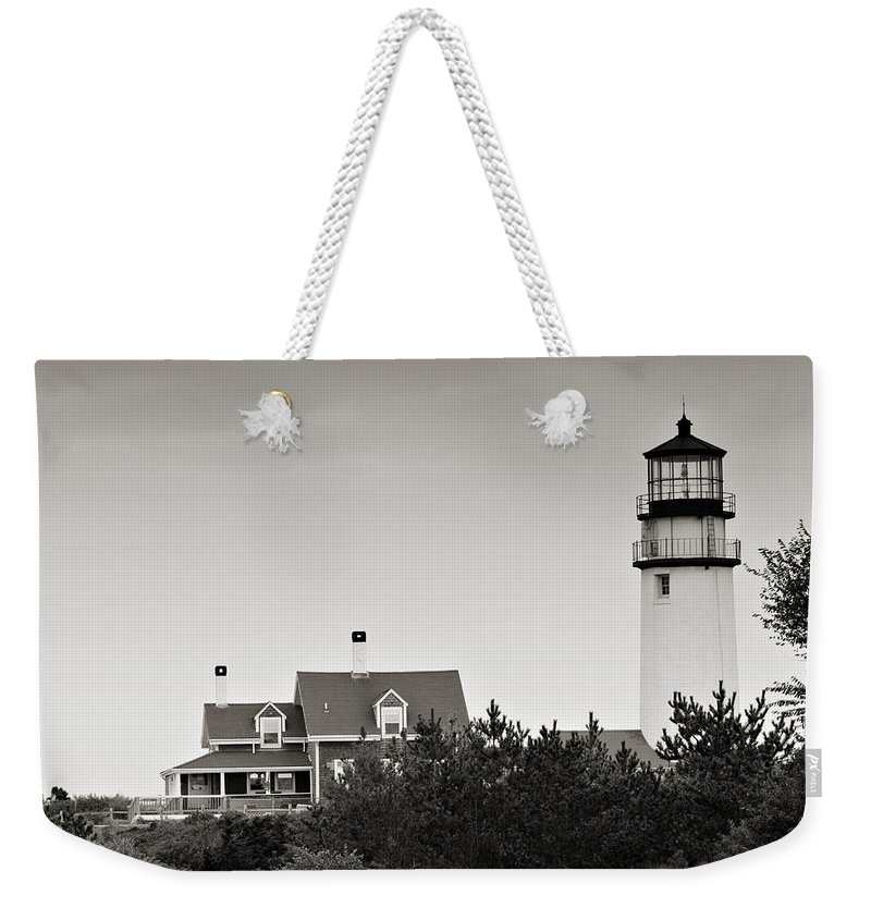 Lighthouse Weekender Tote Bag featuring the photograph Highland Light At Cape Cod by Renee Hong