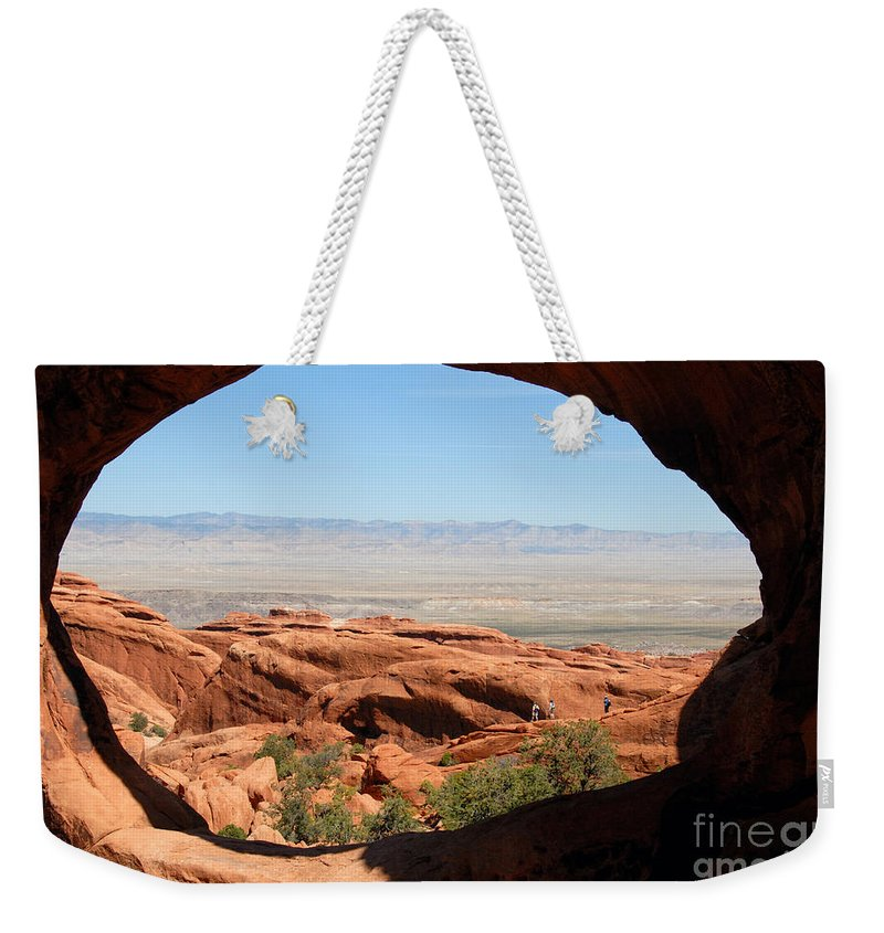 Arches National Park Utah Weekender Tote Bag featuring the photograph Hiking Through Arches by David Lee Thompson