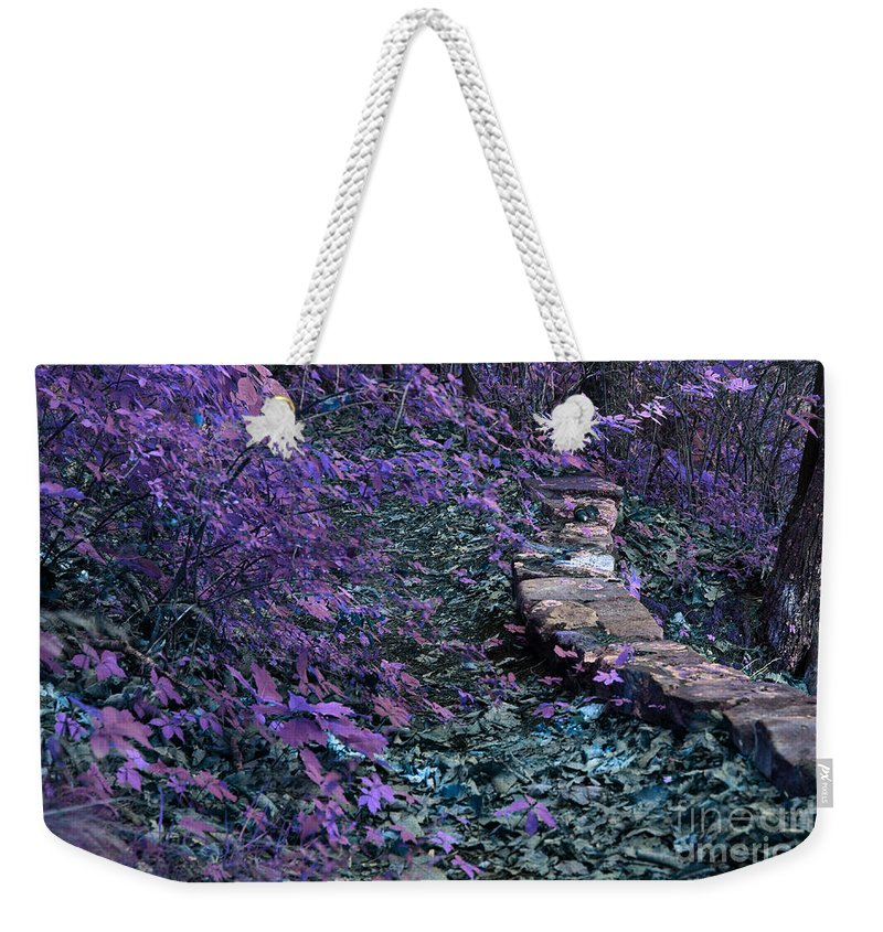 Vacation Weekender Tote Bag featuring the photograph Hiking Trail Infrared by Alan Look