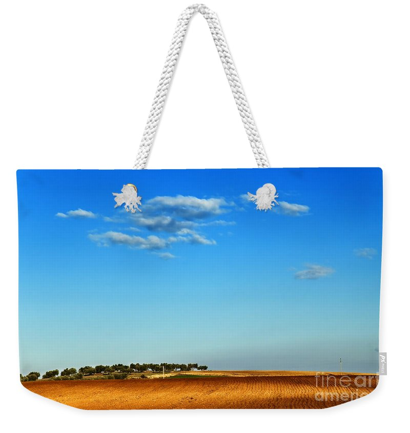 Peaceful Weekender Tote Bag featuring the photograph Hill by Silvia Ganora