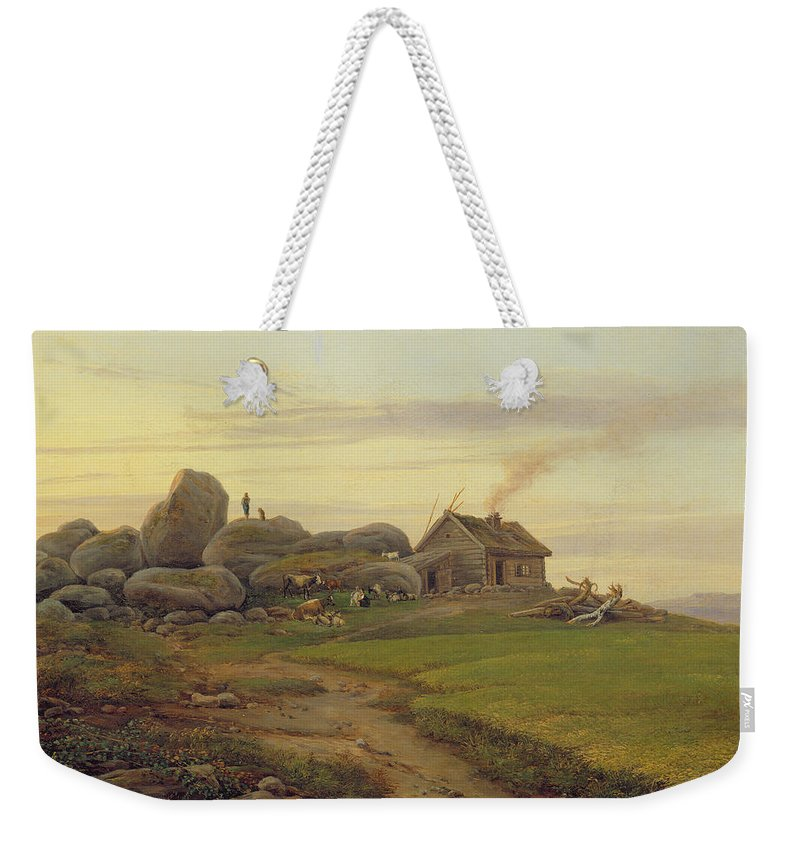 Hill Weekender Tote Bag featuring the painting Hill Top by Heinrich Stuhlmann