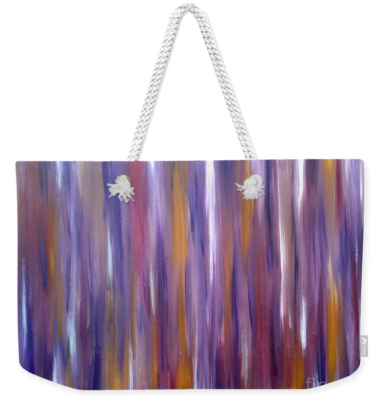 Wood Weekender Tote Bag featuring the painting Hillbilly Love Shack by Go Inspire Beauty