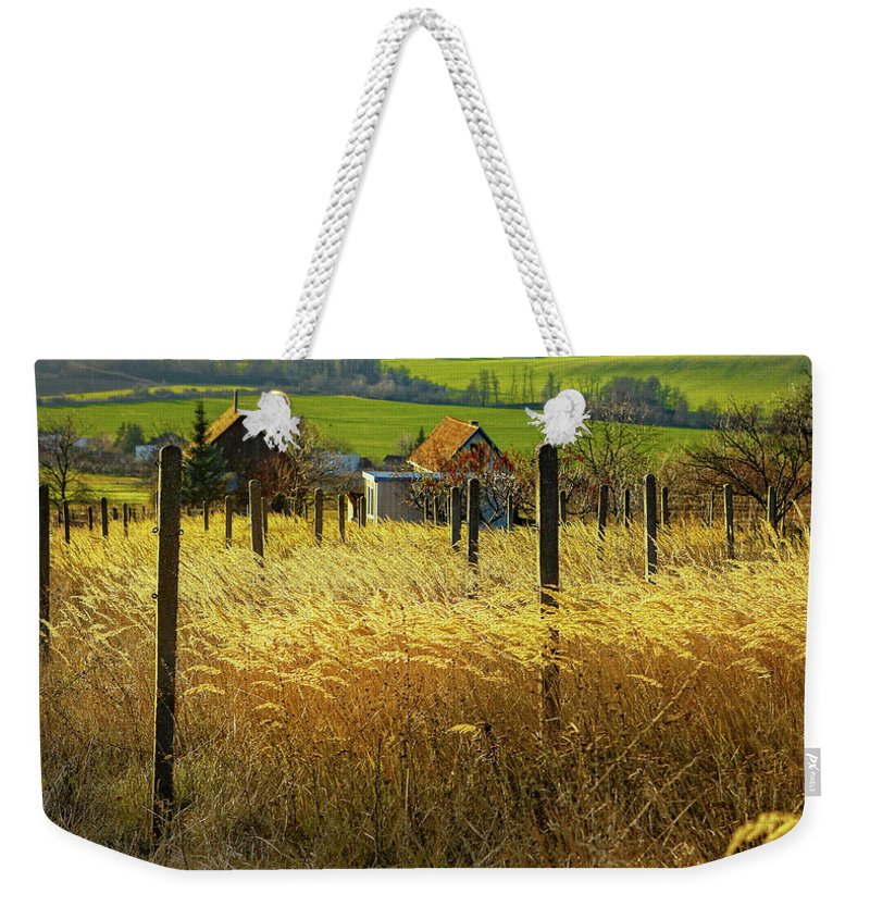 Fields Of Gold Weekender Tote Bag featuring the photograph Hillside In Fall Jalaksova, Slovakia by Kurt Meredith
