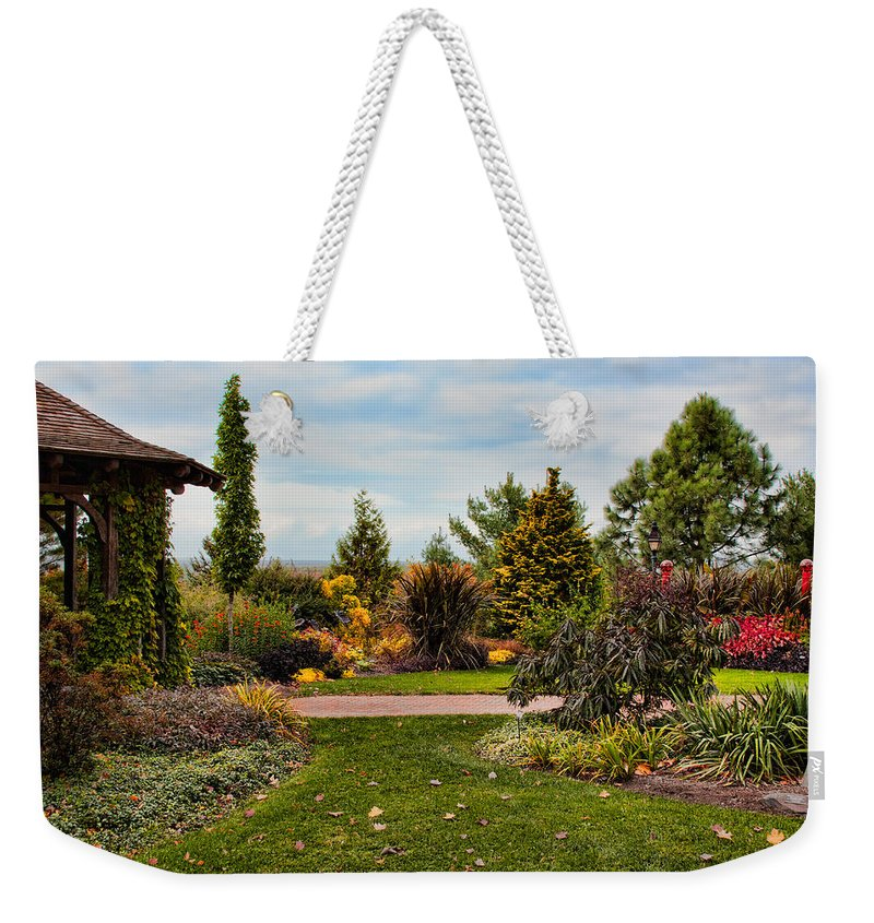 Nature Weekender Tote Bag featuring the photograph Hilltop Gardens by Mike Smale