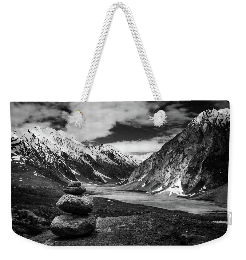 Landscape Weekender Tote Bag featuring the photograph Himalaya by Siddhartha De