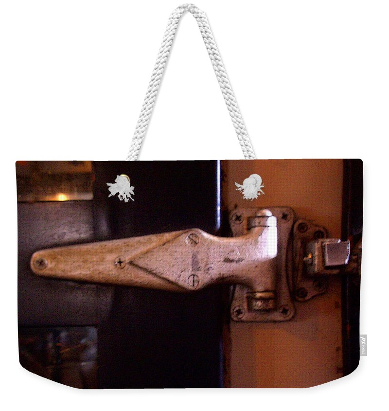 Hinge Weekender Tote Bag featuring the photograph Hinge by Tim Nyberg