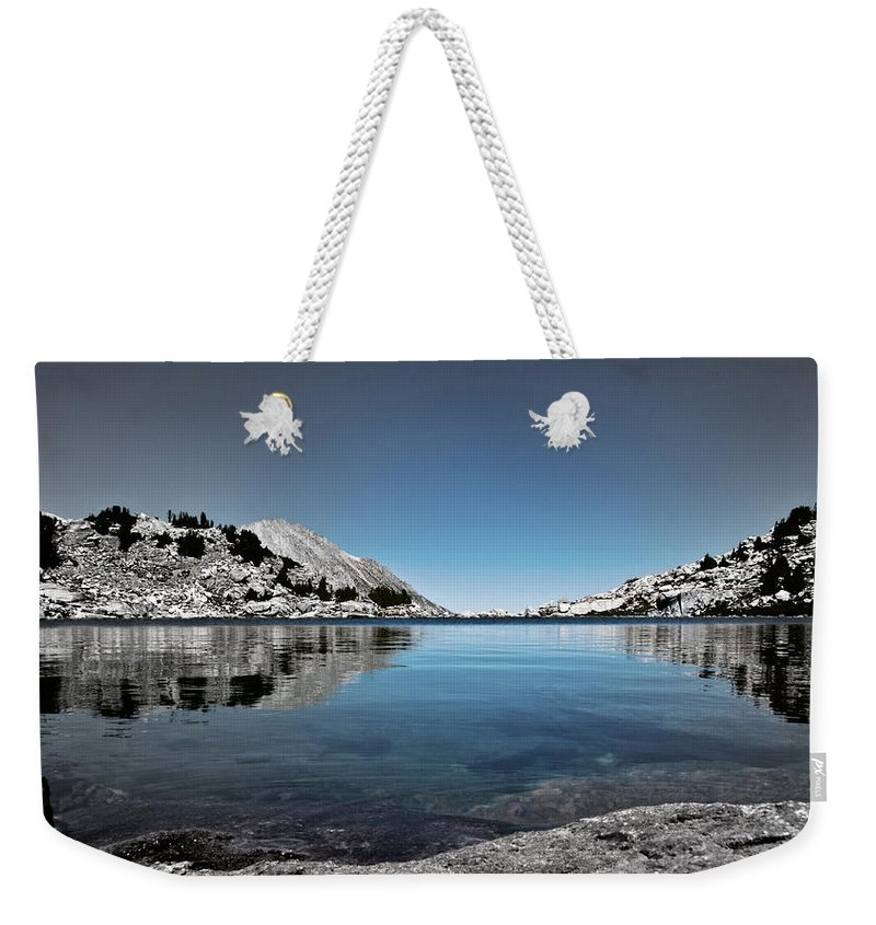 Treasure Lake Weekender Tote Bag featuring the photograph Hint Of Treasure by Chris Brannen