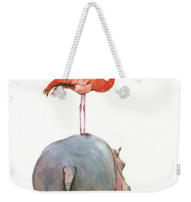 Hippopotamus Weekender Tote Bags