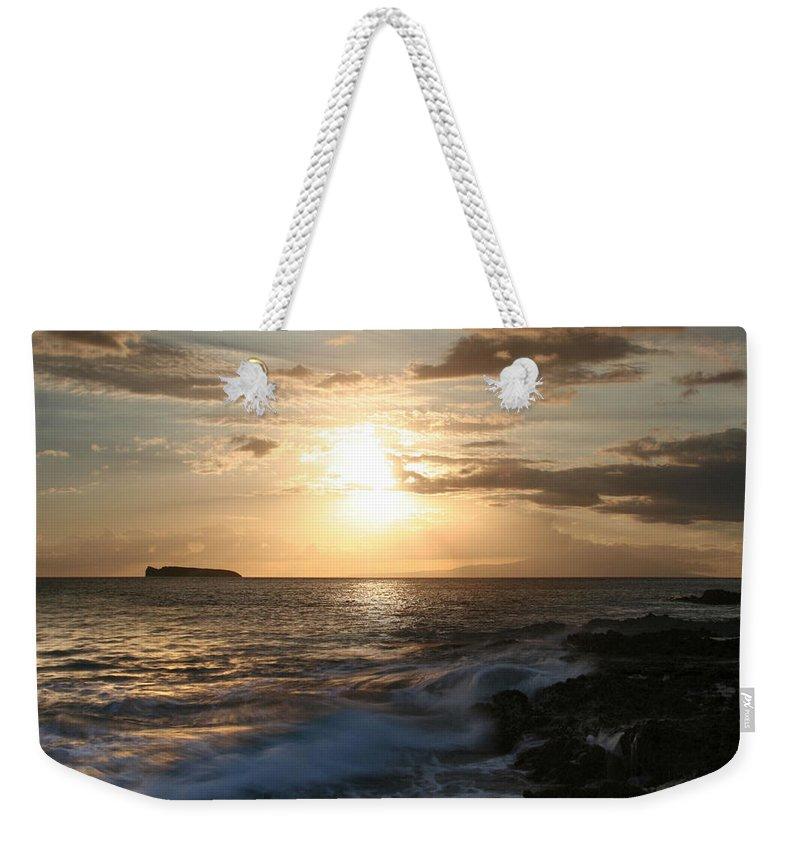 Aloha Weekender Tote Bag featuring the photograph Hiro Pa Mai Pa Mai Ka Makani Nui O Paako by Sharon Mau