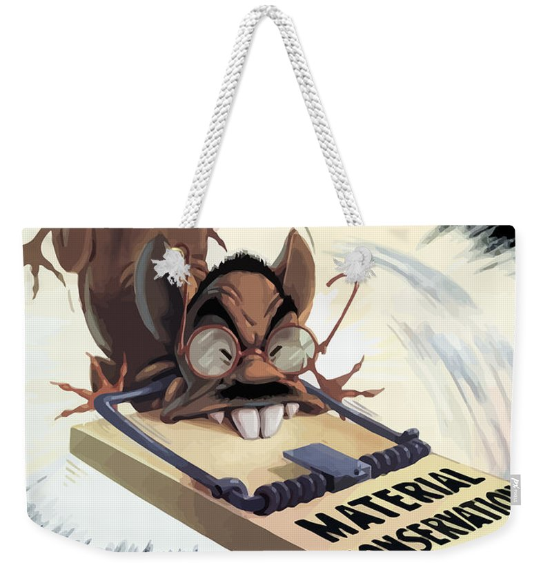 Hirohito Weekender Tote Bag featuring the painting Hirohito As A Rat by War Is Hell Store