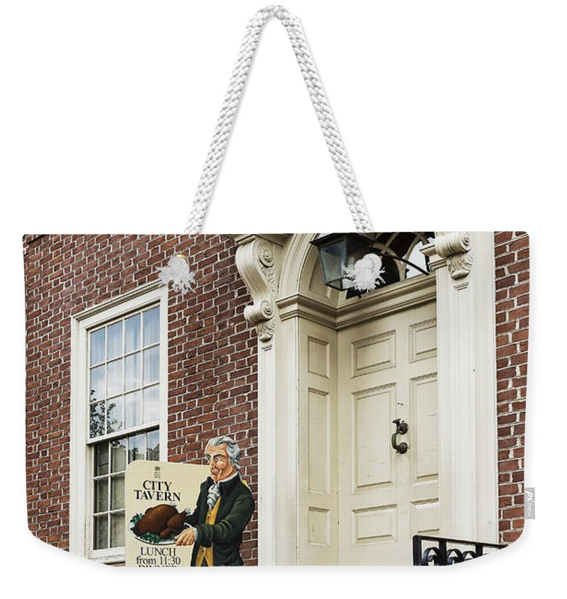 Americana Weekender Tote Bag featuring the photograph Historic City Tavern by John Greim