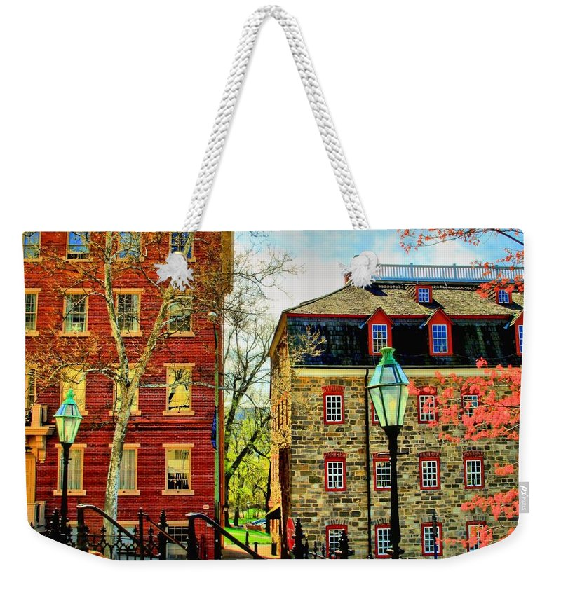Bethlehem Weekender Tote Bag featuring the photograph Historic Intersection by DJ Florek