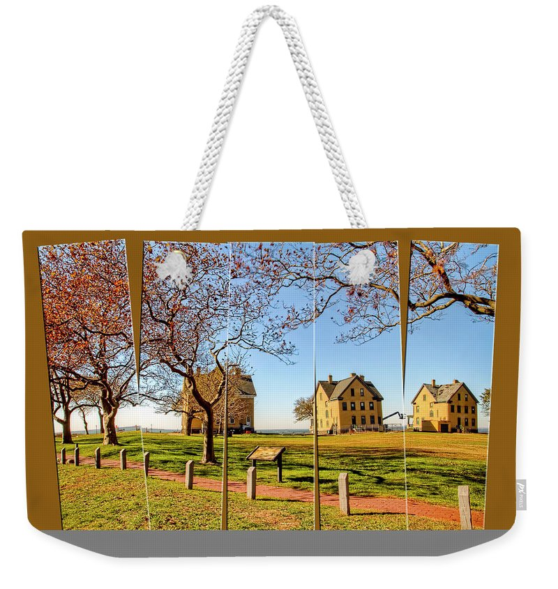 Historic Weekender Tote Bag featuring the photograph Fort Hancock Sandy Hook Nj In Spring by Geraldine Scull