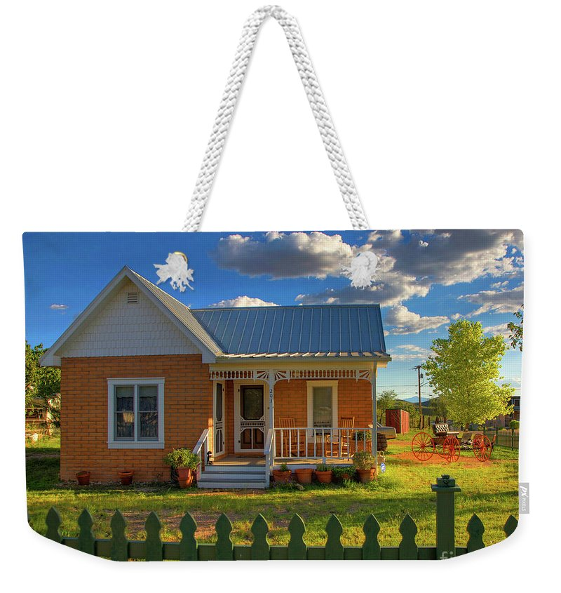 Landscape Weekender Tote Bag featuring the photograph Historic Tombstone In Arizona by Charlene Mitchell