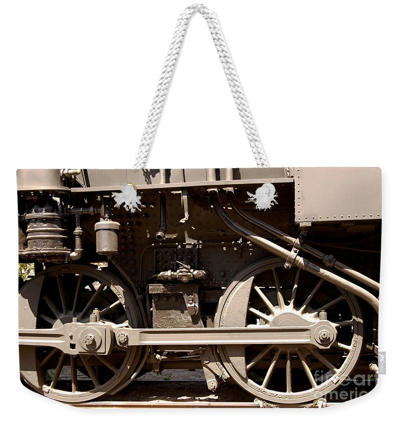 Clay Weekender Tote Bag featuring the photograph Historic Trains by Clayton Bruster