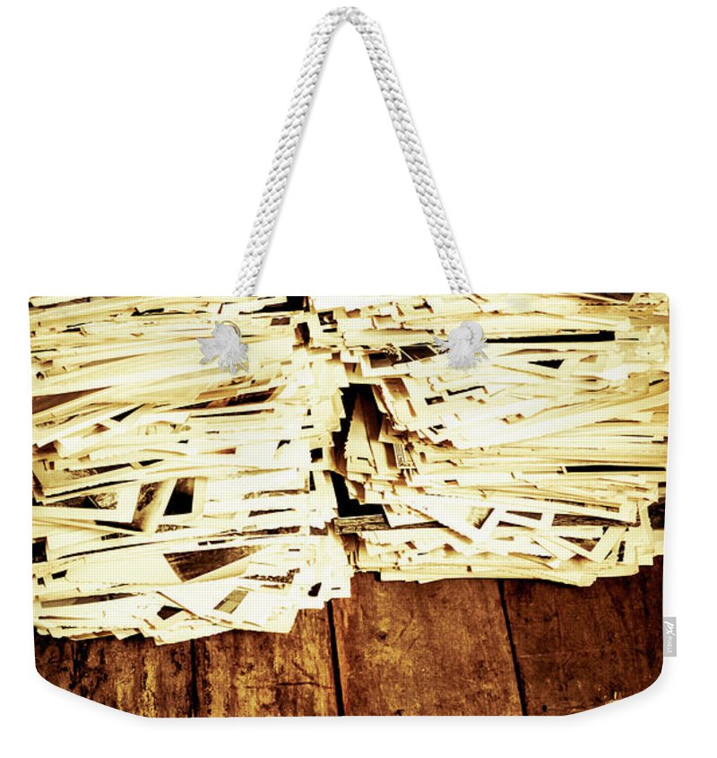 Photographs Weekender Tote Bag featuring the photograph History In Photos by Jorgo Photography - Wall Art Gallery
