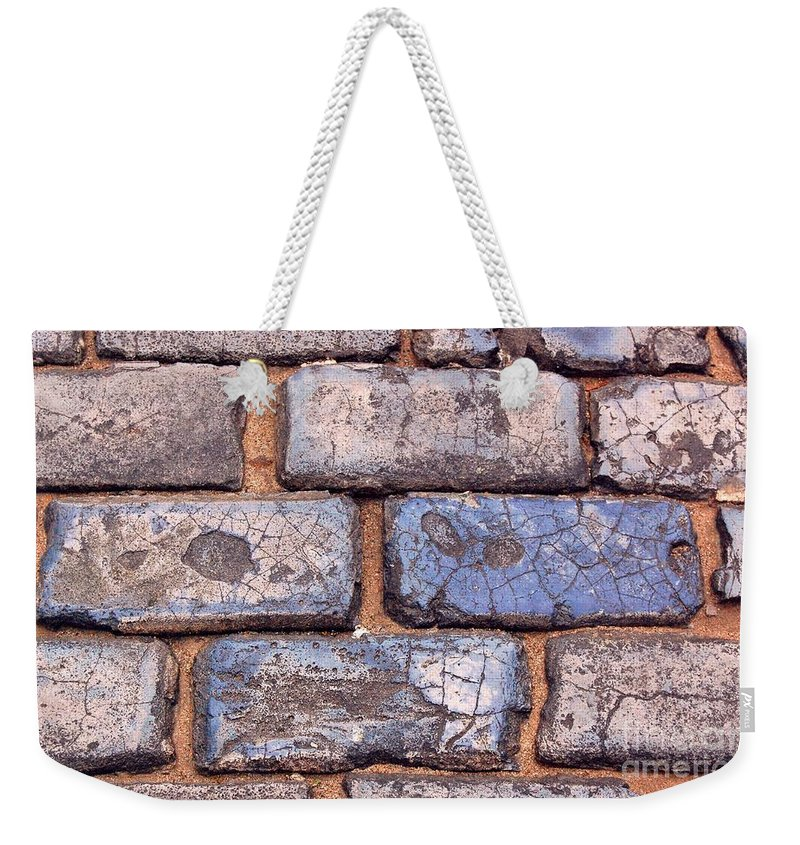 Street Weekender Tote Bag featuring the photograph Hit The Bricks by Debbi Granruth
