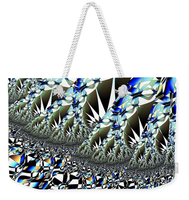 Hoarfrost Weekender Tote Bag featuring the digital art Hoar Frost by Ron Bissett