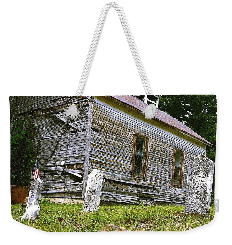Church Weekender Tote Bag featuring the photograph Hocking Hills Church by Nelson Strong