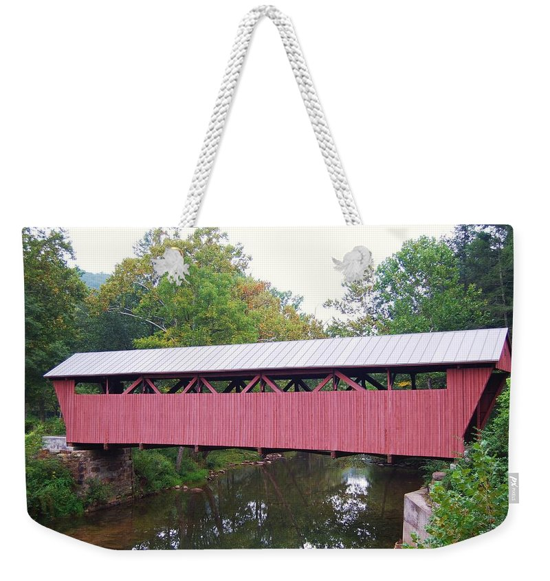 Hokes Mill Weekender Tote Bag featuring the photograph Hokes Mill by Eric Liller