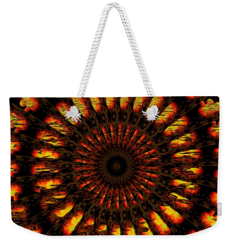 Wheel Weekender Tote Bag featuring the digital art Hold On To Hope by Robert Orinski