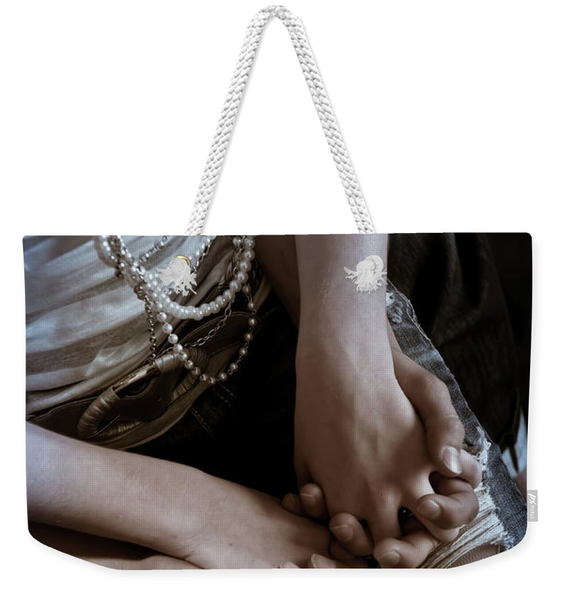 Holding Hands Weekender Tote Bag featuring the photograph Holding Hands by Scott Sawyer